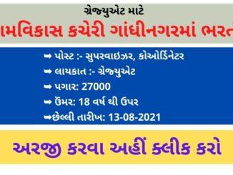 Commissionerate of Rural Development Recruitment 2021   Job in Gandhinagar